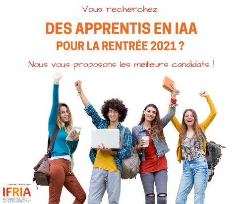 Affiche pour le recrutement d'apprenti en IAA